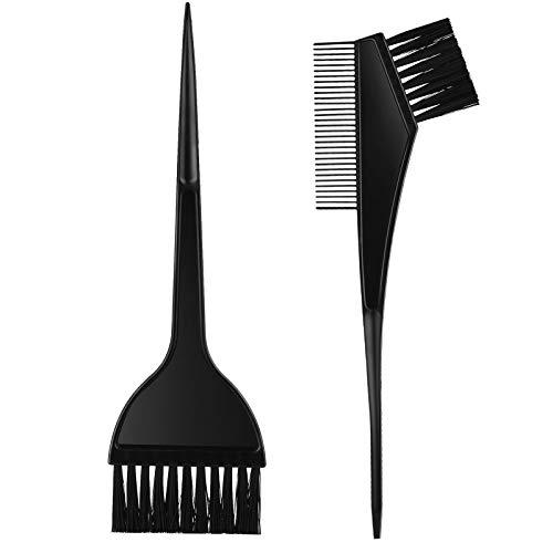 Gezimetie 2-Teiliges Haarfärbepinsel Haare Faerben Set, Färbepinsel Haare Faerbeset und Kamm (2-Teiliges)