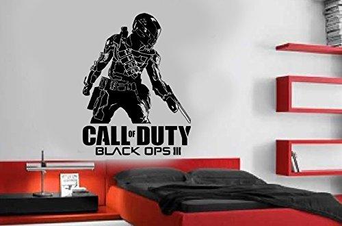 Call Of Duty Black Ops 3Stil PS4Xbox Teen Vinyl Wand Kunst Aufkleber Aufkleber, Vinyl, silber, 58 x 84 cm