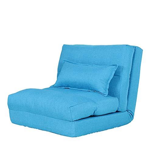 LJFYXZ Canapé Paresseux Chaise Canapé Pliant Simplicité Moderne Facile à enlever et à Laver Réglage à 5 Vitesses Confortable et Respirant Salon Chambre Chaise Longue (Couleur : Bleu)