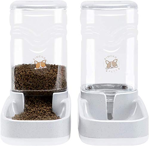 Old Tjikko Futterautomat Katze,Automatischer Futterspender & Wassertränker im Set für Kleintiere,Hund Schüssel,jeweils 3.8L PBA frei (Futterspender und Wassertränke)