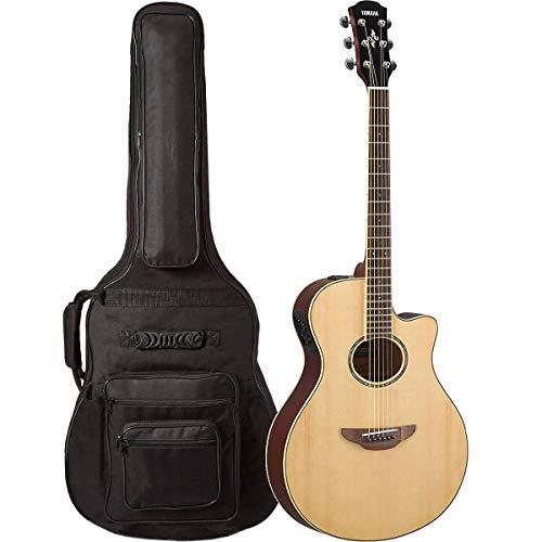 Yamaha apx600 na El Cuerpo Fino Guitarra Electroacústica Natural ...
