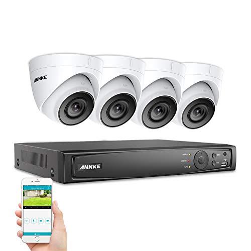 SANNCE 1080P 8CH POE Überwachungskamera Set, CCTV Überwachung System mit drahtlosen 4 x 2.0MP 1080P IP Kameras für Haus Innen Außen Bereich mit Nachtsicht-Funktion und Fernzugriff