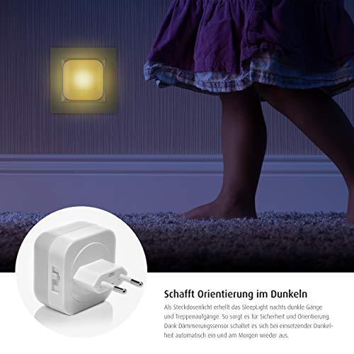 reer SleepLight 2in1 Nachtlicht für die Steckdose und mit Akkubetrieb, cool grey - 5