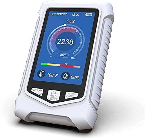GLLP interior calidad del aire hogar temperatura y humedad detector de dióxido de carbono Monitores 0-5000ppm sensor de contaminación detector