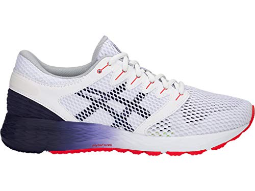 ASICS Men's Roadhawk FF 2 Running Shoes, 11M, White/Peacoat