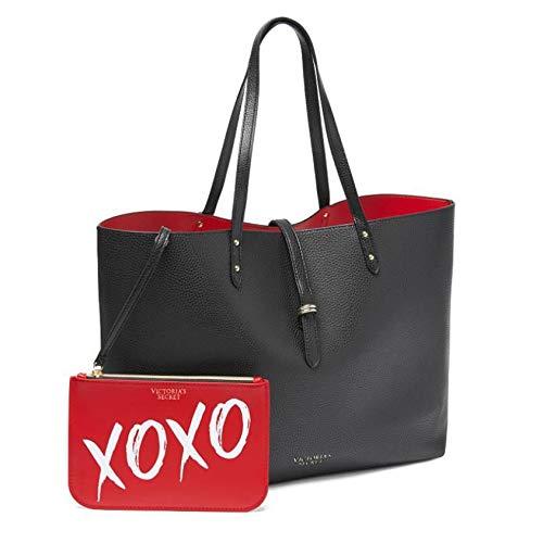 Victoria's Secret Black Red Tote Bag and Small Makeup Bag XOXO