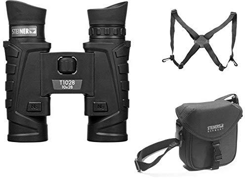Steiner 10x28 Tactical Binoculars + Shoulder Harness + Premium Tactical Carry Case T1028