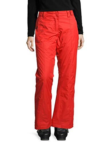Ultrasport Advanced Pantalones de esquí y snowboard para mujer Lucy, pantalones de invierno, pantalones de esquí para mujer, pantalones funcionales para mujer, Naranja, S