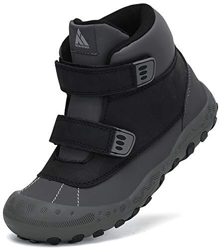 Mishansha Wanderschuhe Kinder Trekkingschuhe Jungen rutschfeste Freizeit Schuhe Klettverschluss Bergschuhe Schwarz Gr.24