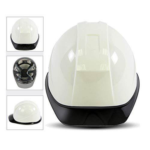 WXJ Zweifarbige Mode Schutzhelm Anti-UV Transparent Floating Eaves Design 6-Punkt Gepolstertes Futter Abnehmbare Schweißband Baustelle, Autobahn, Bergbau