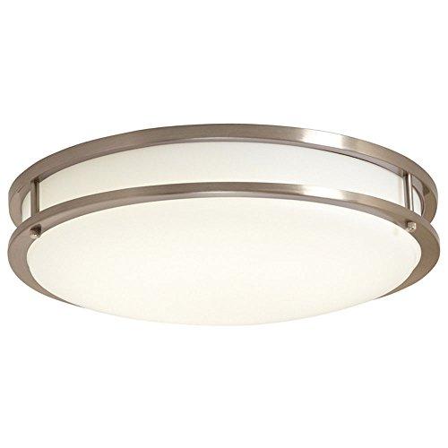 EV1410LED-BN Ceiling Light, LED Flushmount, Brushed Nickel with White Lens