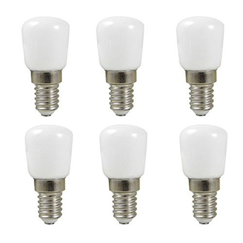 MENGS 6 Stück E14 LED Lampe 2W AC 220-240V Kaltweiß 6500K SMD Mit Aluminium und PC Körper