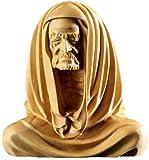 WJSW Adornos Estatuas Esculturas Tallado en Madera de boj Té Adornos para Mascotas Tallado Zen Joyería Artesanal Dharma Sentado Zen