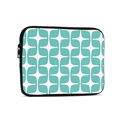 Mod Rectangles Pattern Aqua Laptop Case Protective Sleeve Bag Briefcase Work Business Slim Tablet Handbag for 9.7 inch Notebook Tablet