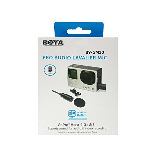 BOYA by-gm10Lavaliermikrofon Audio Pro Mini USB (Omnidirektionales Kondensator für GoPro hero4, Hero3+, Hero3
