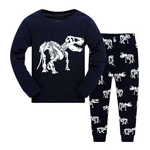 Pijama para Niños Dinosaurio Largos Pjs para Niños Pequeños 2-7 Años