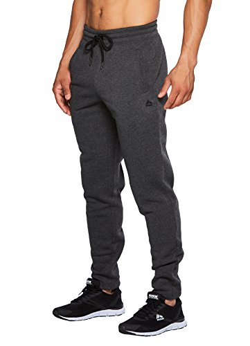 RBX Active Men's Fleece Tapered Jogger with Back Pocket Charcoal Heather S