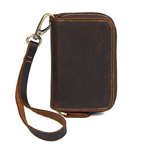 Heren munten portemonnee Vintage Card Bag Mode riem lederen portemonnee
