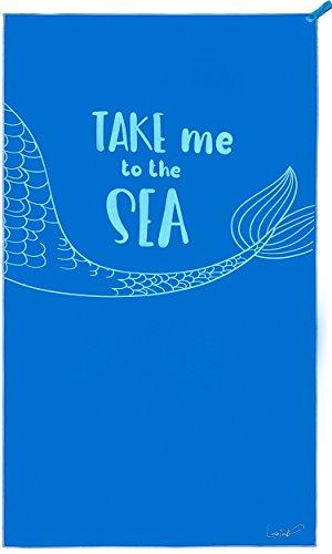 Lahtak Toalla Playa Grande - Toalla Microfibra - Toalla Playa Microfibra - Ideal como Piscina Camping Yoga Viaje Deporte Pesca Baño Gym (Azul Real 140 x 80 cm)