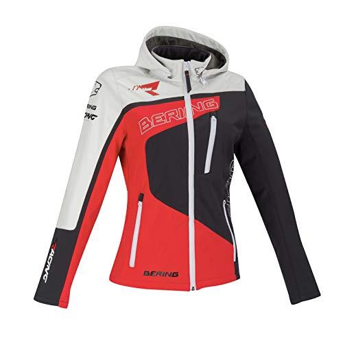 Bering Giacca moto Softshell Racing grigio rosso bianco