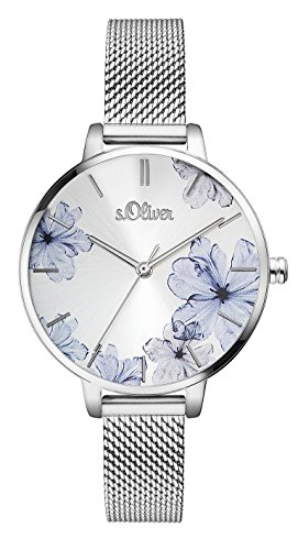 s.Oliver Damen Analog Quarz Armbanduhr SO-3523-MQ