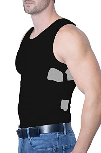 AC Undercover Concealed Carry Clothing Shirt for Men. Tank Top Concealment Vest. Gun Holster CCW Tactical
