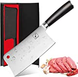 Imarku Cleaver Knife 7 Inch German High Carbon Stainless Steel Chopper Knife for Home Kitchen and...