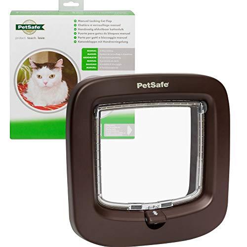 Petsafe - PPA19-16731 - Katzenklappe mit Handverriegelung; haltbare und einfach zu installierende Katzenklappe; von den Machern von Staywell, braun