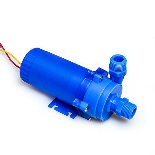 NUZAMAS 12V 85W DC Wasserpumpe 14L / min Wassersäule 8m, für Solarheizungen,Springbrunnen, Aquarien mit Wasserzirkulation, als Kaltwasserpumpe