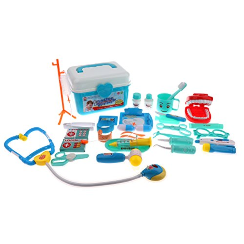 Sharplace Kit de Docteur en Plastique Jeux D'imitation Jouet éducatif pour Bébé Enfants - Bleu # 2