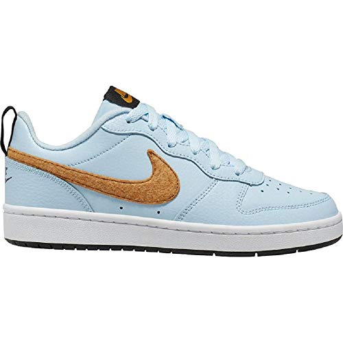 Nike Herren Court Borough Low 2 Basketballschuhe, Blau (Celestine Blue/Gold Suede/Black/White 400), 40 EU