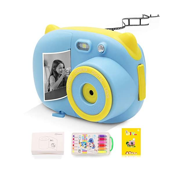 Instant Print Camera for Kids Camera Toys with WiFi + Printer Paper + Color Brush...