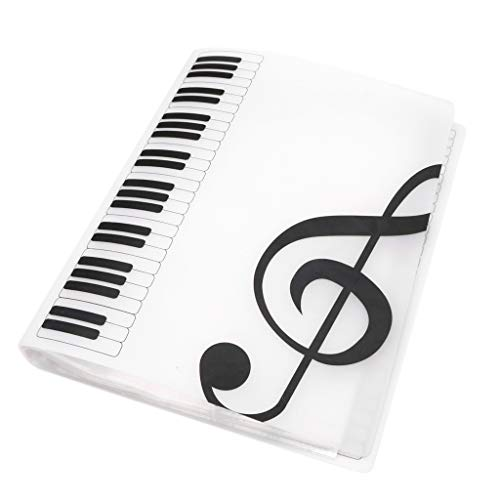 H HILABEE Document Organizer Music Folder Notenblattordner PVC Music Book Clip Weiß