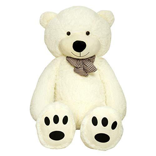 orso peluche gigante 250 cm TEDBI Grande Orsacchiotto 180cm | Crema | Gigante Orso di Peluche farcito Giocattolo Bambini Cuore Regalo di Compleanno XXL Teddi Bear