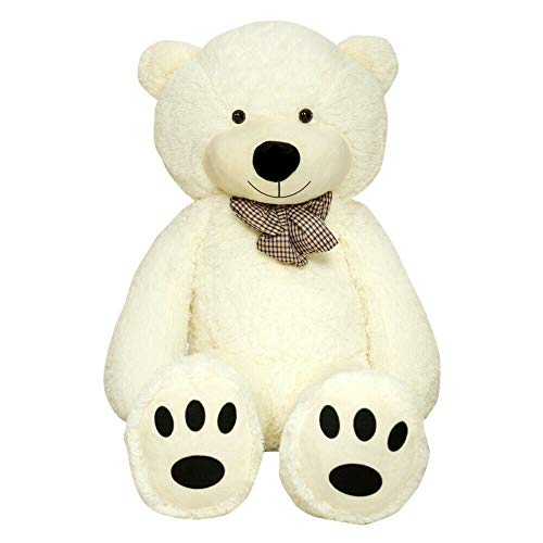 TEDBI Teddybär 180cm | Farbe Creme | Groß XXL Teddy Bear Gigant Plüschbär Stofftier Kuscheltier Plüschtier Größe XL Cremebär Teddi Bär