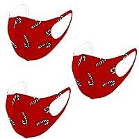 AXBdoll マスク 子供用マスク 保護マスク 洗える クリスマス マスク 新年マスク ウレタンマスク 子供キッズ用 涼感 接触冷感3D立体マスク 防塵マスク 快適 UVカット 可愛い花柄 通気性 伸縮性 繰り返し使える (30枚入, レッド-B)
