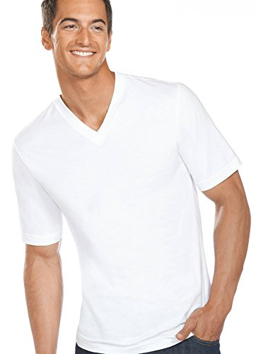 Price comparison product image Jockey Men's T-Shirts Slim Fit Cotton V-Neck - 3 Pack,  White,  XL