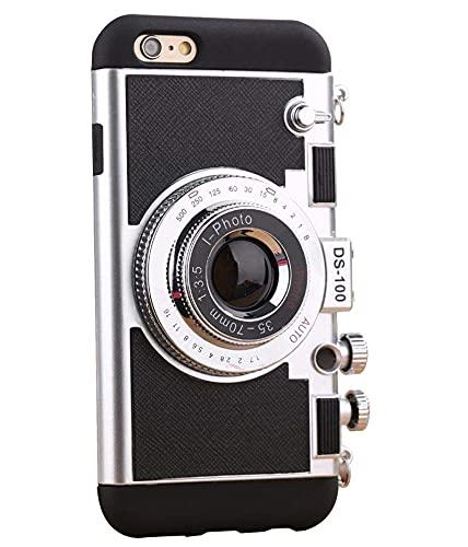 Cekell Fundas de teléfono con cámara vintage para IPhone 7 Plus 8 Plus Plus Emily In Paris, mismas fundas de teléfono