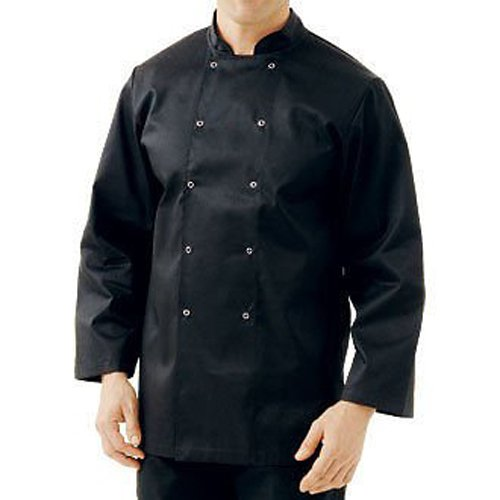 Mcintyre Brand Poly Cotton Chef Full Sleeve Coat/Jacket Black, XX-Larg