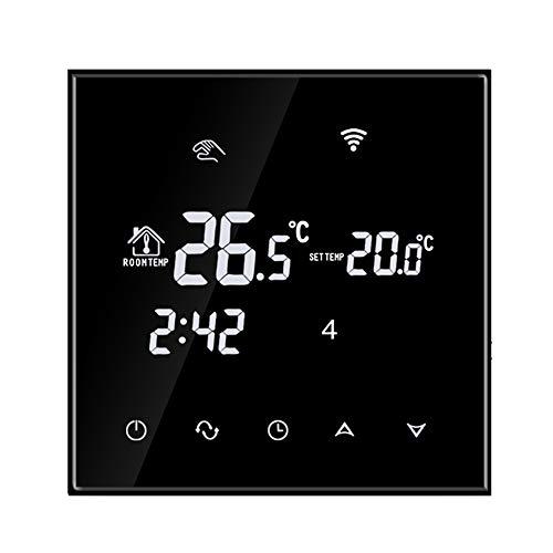 TGT70WIFI Digitaler Unterputz Raumthermostat elektrische Heizung Touchscreen Programmierbare Wandthermostat mit großen LCD-Display Temperaturregler Fußbodenheizung