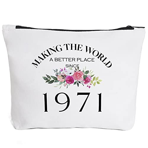 50th Birthday Gifts for Women Mom Grandma Aunt BFF Friends Teacher Boss Staff Colleague Coworker-Making The World Since 1971- 50 Years Old Gifts Ideas For Women Turning 50 for Wife Sisters Her