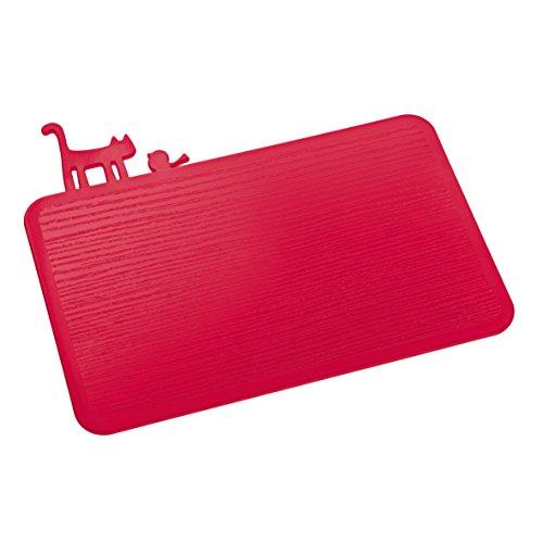 Koziol 3639583 Planche à découper, Plastique, Rouge Framboise Opaque, 25 x 29,8 x 0,5 cm