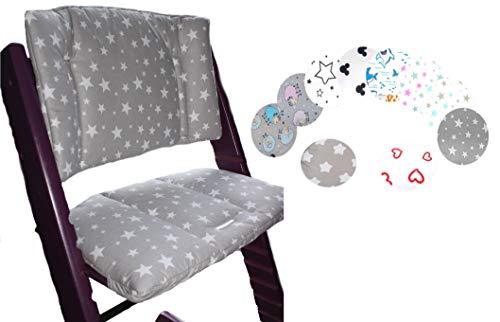 Little Sweetz ** Cojín Asiento DESIGN ** Para Trona Stokke Tripp Trapp 2 piezas - Funda de repuesto ** Reductor de asiento para trona bebé