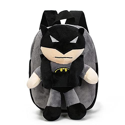Hilloly Batman Rucksack - Superhelden Rucksack Student Schultasche Kinderrucksäcke, Batman Marvel School Student Schultasche Einstellbare Kindergarte Junge Mädchen Buch im