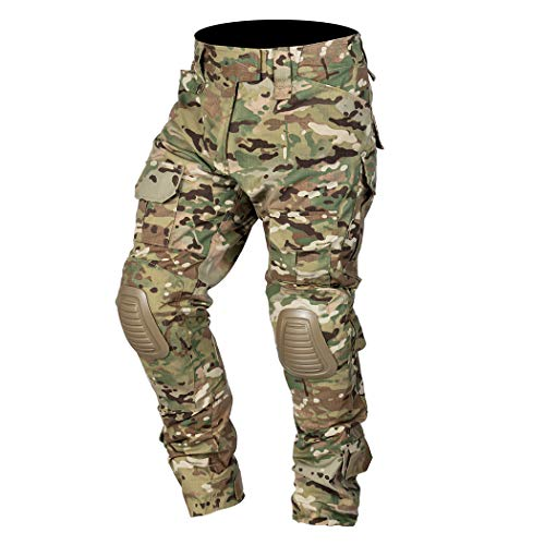 IDOGEAR Combat Pants Multicam Men Pants with Knee...