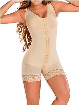 M&D 0029 Fajas Colombianas Reductoras y Moldeadoras para Adelgazar Post Surgery BBL Compression Garment Post Op Body Shaper for Women Plus Size Beige L