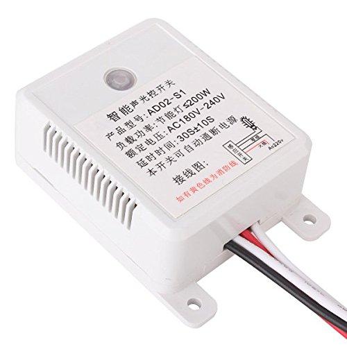 AC 180-240V Interruptor automático de sensor de voz de encendido y apagado de la luz para el pasillo, almacén