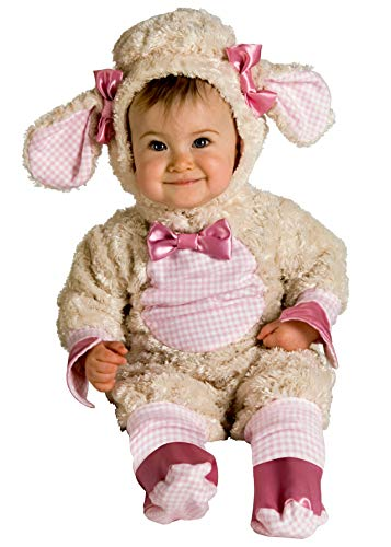 Rubie's Baby-girls Infant Noah Ark Collection Lucky Lil Lamb Costume, Beige/Pink, 0-6 months