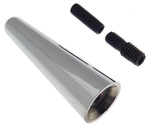 Voiture Mini antenne de toit 5 cm M5 M6 Barre d'antenne adaptateur antenne courte argent voiture