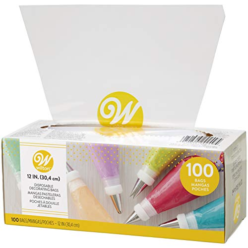 Wilton 12-Inch Disposable Cake Decorating and Pastry Bags